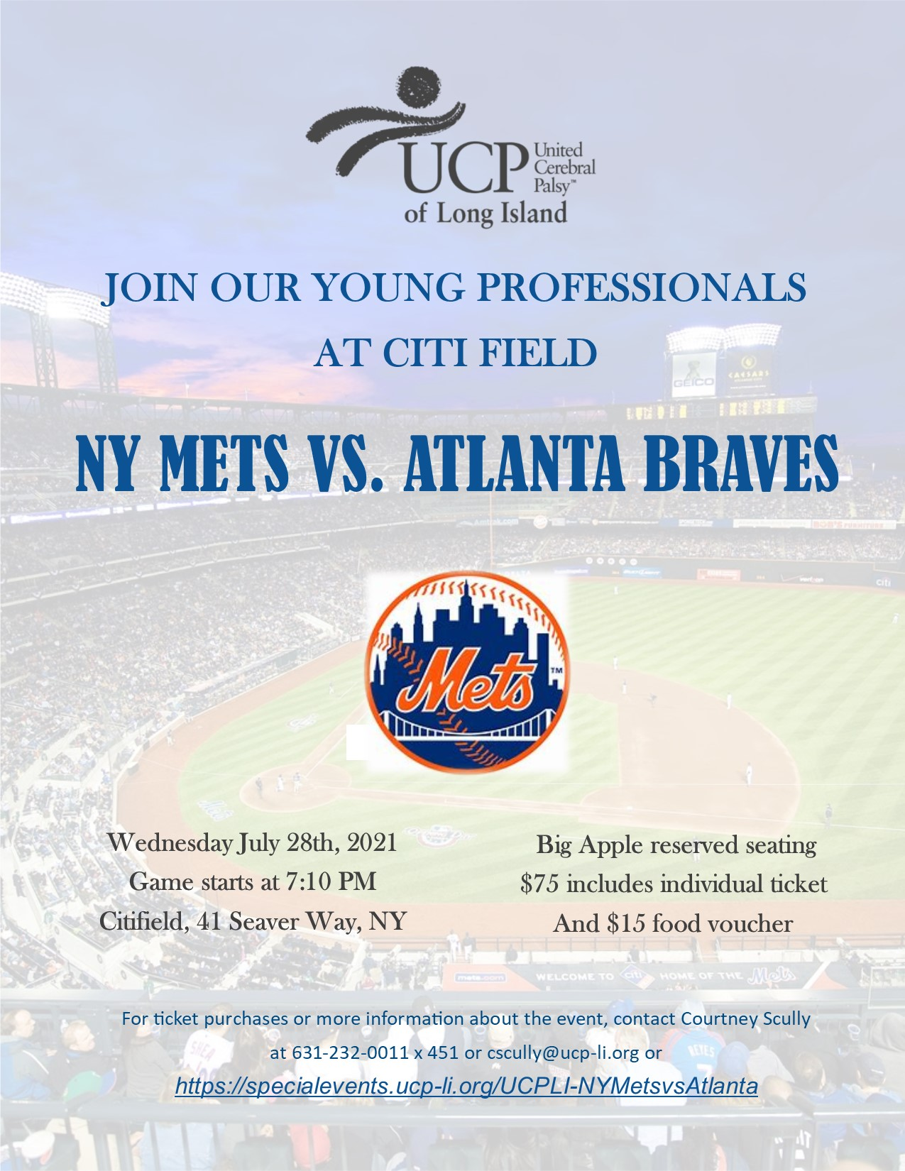 Young Professional Event-NY Mets vs Atlanta Braves @ Citi Field